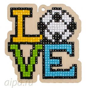 Люблю футбол Алмазная мозаика подвеска Гранни Wood W0298