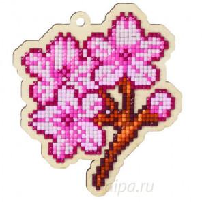 Ветка сакуры Алмазная мозаика подвеска Гранни Wood W0115