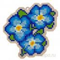 Анютины глазки (голубые) Алмазная мозаика подвеска Гранни Wood