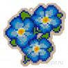 Анютины глазки (голубые) Алмазная мозаика подвеска Гранни Wood W0161