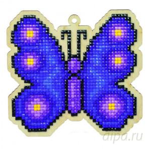 Бабочка Неон Алмазная мозаика подвеска Гранни Wood W0117