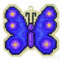 Бабочка Неон Алмазная мозаика подвеска Гранни Wood