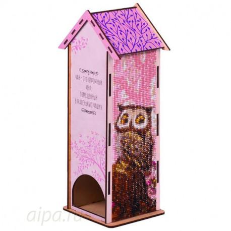 Совушки Чайный домик с алмазной мозаикой Гранни W0006