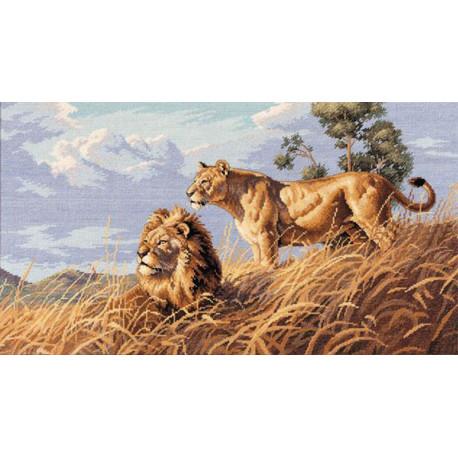 Африканские львы 03866 Набор для вышивания Dimensions ( Дименшенс )