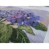 Фрагмент вышитой работы Цветущая гортензия 06959 Набор для вышивания Dimensions ( Дименшенс )