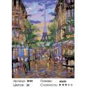 1 Воспоминания о Париже (художник Robert Finale) Раскраска по номерам на холсте Живопись по номерам