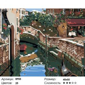 1 Венецианские огни (репродукция Роберта Пежмана) Раскраска по номерам на холсте Живопись по номерам