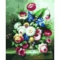 Цветы Раскраска по номерам на холсте Iteso