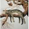 Фрагмент вышитой работы Слишком устал 35087 Набор для вышивания Dimensions ( Дименшенс )