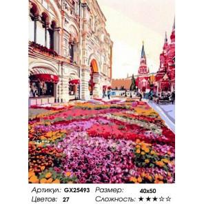 Цветочная клумба Раскраска картина по номерам на холсте GX25493