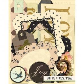 Француский винтаж Кардсток и вырубные украшения для скрапбукинга, кардмейкинга K&Company