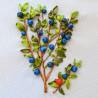 3 Куст голубики Набор для вышивки картины лентами