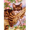 Спящий котенок 65090 Набор для вышивания Dimensions ( Дименшенс )