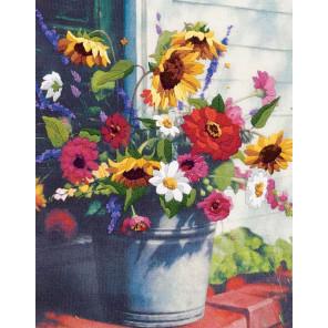 Корзина цветов 01534 Набор для вышивания Dimensions ( Дименшенс )
