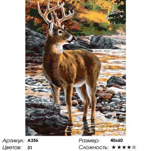Количество цветов и сложность Олень осенью Раскраска по номерам на холсте Живопись по номерам A356