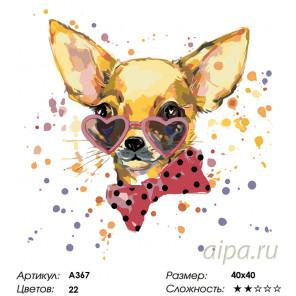 Количество цветов и сложность Стильные очки Раскраска по номерам на холсте Живопись по номерам A367