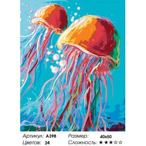 Количество цветов и сложность Медузы Раскраска по номерам на холсте Живопись по номерам A398