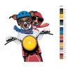 Схема Парочка на мотоцикле Раскраска по номерам на холсте Живопись по номерам A401