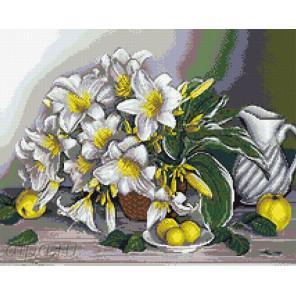 Натюрморт с лилиями Алмазная мозаика вышивка Паутинка М-264