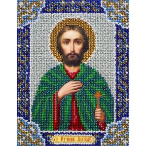 Святой Анатолий Набор для частичной вышивки бисером Паутинка Б-727