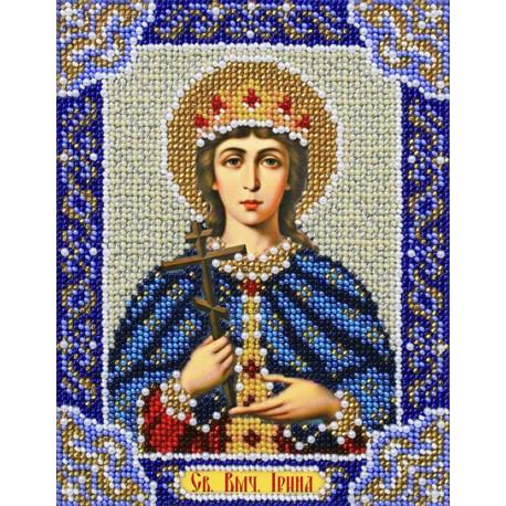 Святая Ирина Набор для частичной вышивки бисером Паутинка Б-730