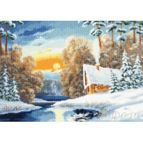 Зимняя речка Набор для вышивания Золотое Руно ЛП-051