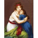 Автопортрет с дочерью (По мотивам картины Виже-Лебрен) Набор для вышивания Золотое Руно