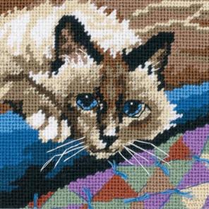 Милый котик 07228 Набор для вышивания Dimensions ( Дименшенс )