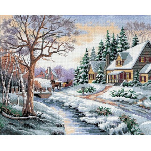 Зимняя улица 13691 Набор для вышивания Dimensions ( Дименшенс )