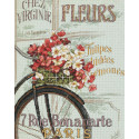 Парижский велосипед Набор для вышивания счетным крестом Dimensions