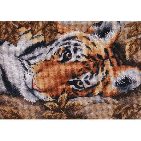 Притягательный тигр 65056 Набор для вышивания Dimensions ( Дименшенс )