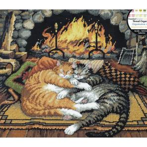 Кошки у Камина 72-120007 Набор для вышивания Dimensions ( Дименшенс )