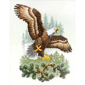 Набор для вышивания: Орел приземляется, счетный крест