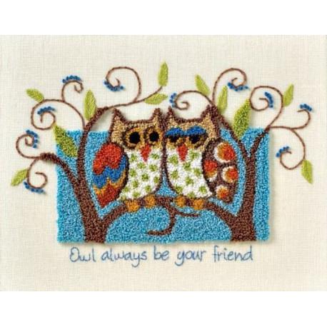 Совы - ваши верные друзья 73399 Набор для вышивания Dimensions ( Дименшенс )