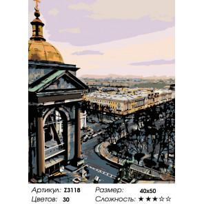 Количество цветов и сложность Вид на Петербург Раскраска по номерам на холсте Живопись по номерам Z3118