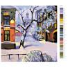 Раскладка Снежный двор Раскраска по номерам на холсте Живопись по номерам Z3138