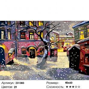 Количество цветов и сложность Снег в городке Раскраска по номерам на холсте Живопись по номерам Z31383