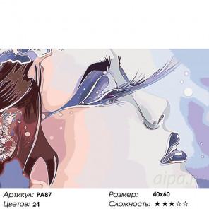 Взмах ресниц Раскраска по номерам на холсте Живопись по номерам PA87