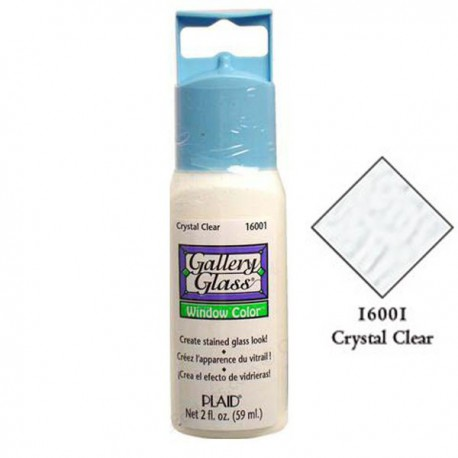 Кристально белая 16001 Витражная краска Gallery Glass