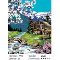 Количество цветов и сложность Весна в Альпах Раскраска по номерам на холсте Живопись по номерам PP10