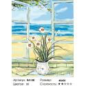 Количество цветов и сложность Нарцисcы на окне Раскраска по номерам на холсте Живопись по номерам RA158