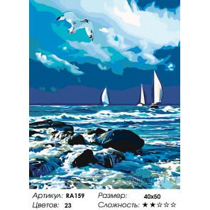 Количество цветов и сложность Затишье перед бурей Раскраска по номерам на холсте Живопись по номерам RA159