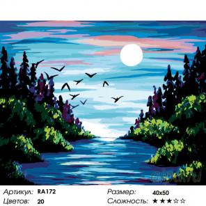 Количество цветов и сложность Лесная река Раскраска по номерам на холсте Живопись по номерам RA172