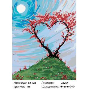 Количество цветов и сложность Сила любви Раскраска по номерам на холсте Живопись по номерам RA178
