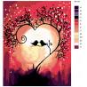 Схема Песня любви Раскраска по номерам на холсте Живопись по номерам RA179
