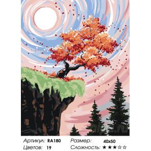 Количество цветов и сложность Дерево мудрости Раскраска по номерам на холсте Живопись по номерам RA180