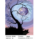 Количество цветов и сложность Обнимая луну Раскраска по номерам на холсте Живопись по номерам RA181