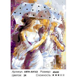 Укрывшись зонтом Раскраска по номерам на холсте Живопись по номерам ARTH-AH163