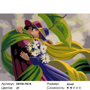 Количество цветов и сложность Теплая встреча Раскраска по номерам на холсте Живопись по номерам KRYM-FN14