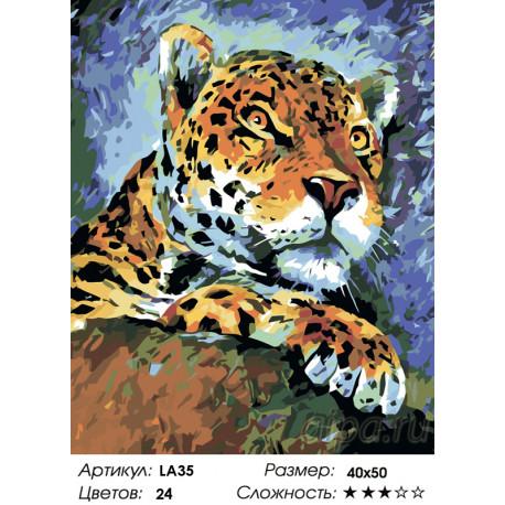 Количество цветов и сложность Хищник с характером Раскраска по номерам на холсте Живопись по номерам LA35